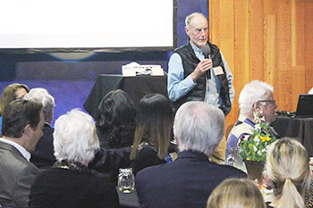 Dr. Jim Sanderson talking during the 2015 fundraiser for the Wildcat Education and Conservation Fund